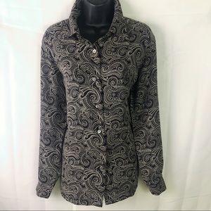 Liz Claiborne Classic button down blouse 8 pattern